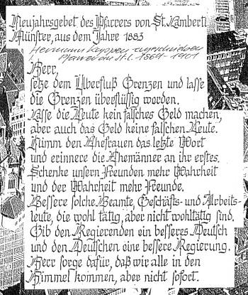 St Lamberti Neujahrsgebet von 1883