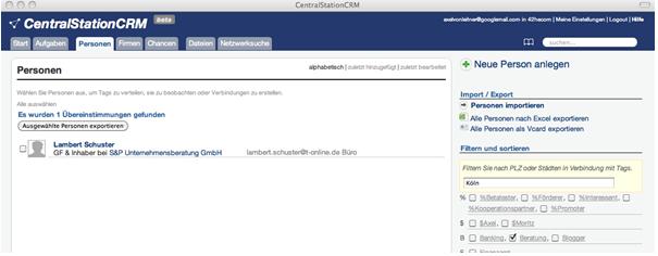 Outlook als Teil des CRM?
