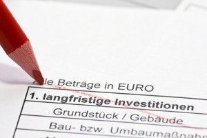 Investitionsplan für einen Investitionskredit