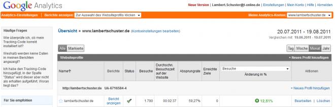 Google Analytics für https://lambertschuster.de/