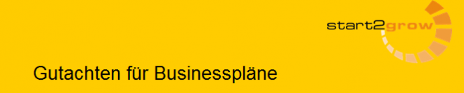 Gutachten, zum Businessplan bei NUK Köln und start2grow Dortmund