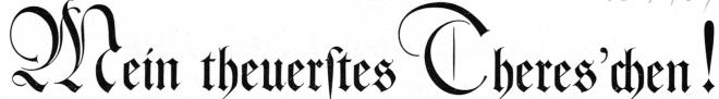 Liebesbriefe - Mein theuerstes Thereschen