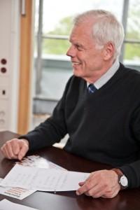 Unternehmensberater Lambert Schuster bei der Unternehmensberatung
