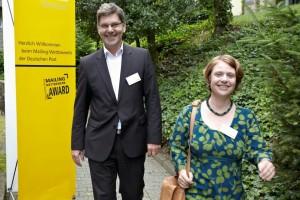die Preistraeger Britta Janssen und Olaf Zerell