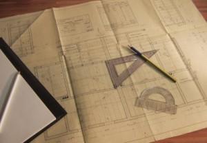 Bauplan auf dem Weg zur Unternehmensvision