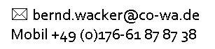 Entscheidungen treffen bei Bernd-Wacker, Coutandin & Wacker Unternehmensberatung