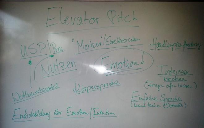 Elevator Pitch für den Unternehmer
