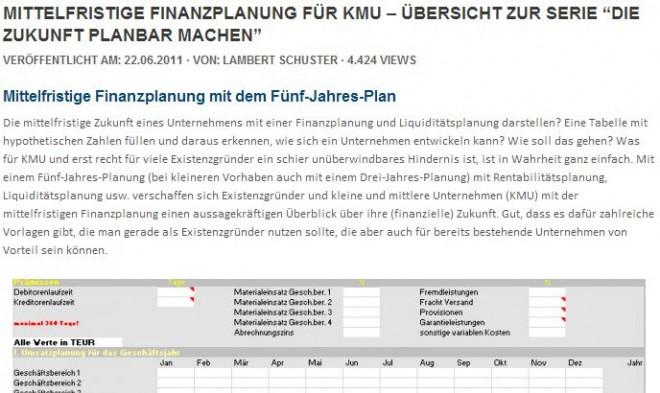 """Suchergebnis """"Mittelfristige Finanzplanung für KMU"""""""