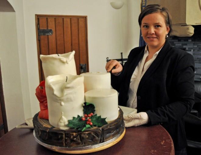 Grit Vaccarisi hat dieses Kunstwerk von Kuchen für die 3.Scout-Veranstaltung in Münster gespendet