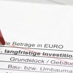 Finanzplan mit Investitionsplan