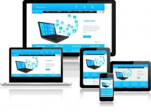 """Internetseite mit """"responsive"""", die sich an die verschiedenen Endgeräte anpasst."""