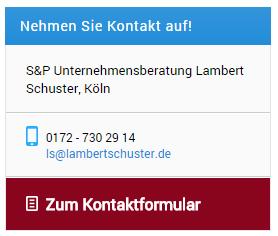 Usability zum Kontaktformular bei Unternehmensberater Lambert Schuster