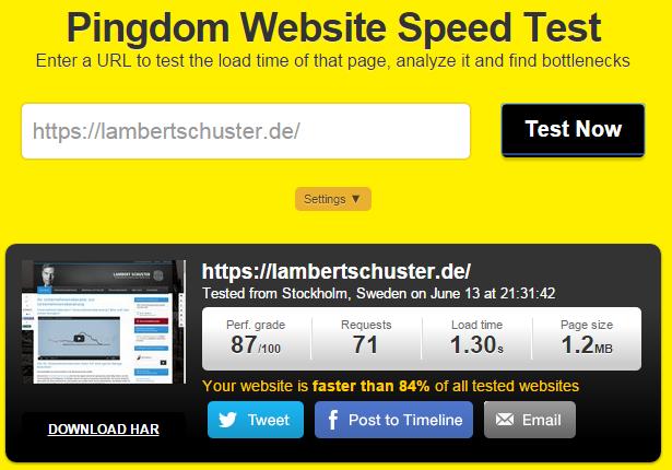 Umstellung auf https und schnelle Ladezeiten für die Website von lambertschuster.de