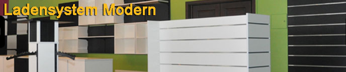 Ladeneinrichtung zum Beispiel mit dem Ladenbausystem Modern