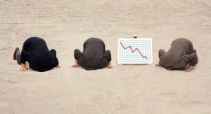 Clipart Kopf in den Sand