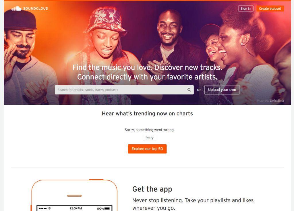 Musik-Dienst SoundCloud