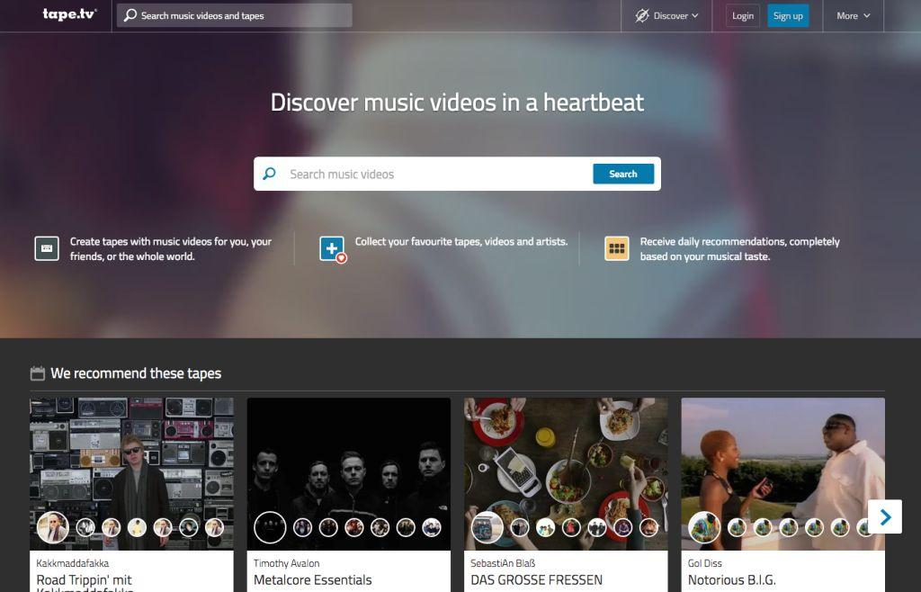 Musik-Dienst tape.tv