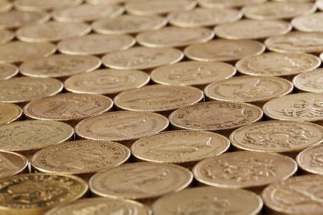 Britische Pfund in Münzen